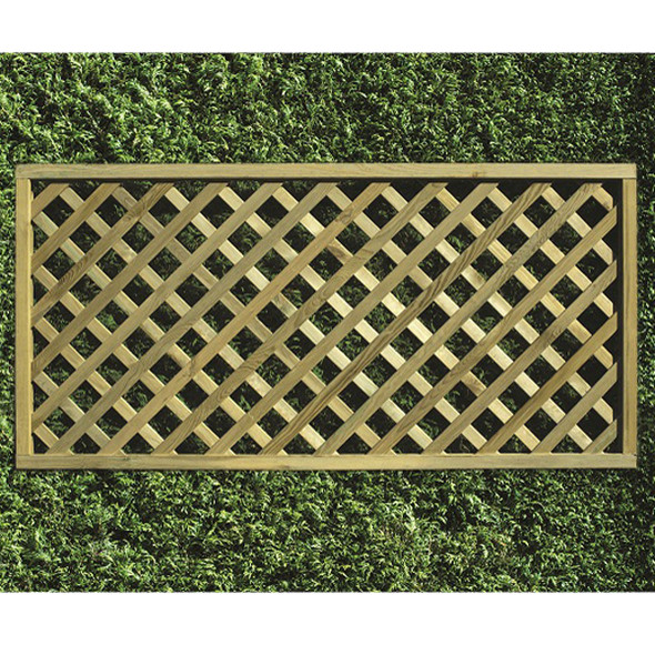 Heavy Diamond Lattice Panel (1800 x 900mm) - Pressure Treated Green Timber