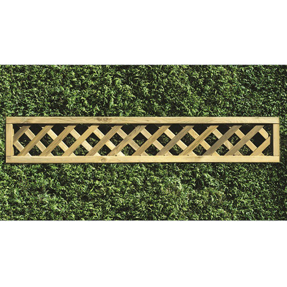 Heavy Diamond Lattice Panel (1800 x 300mm) - Pressure Treated Green Timber