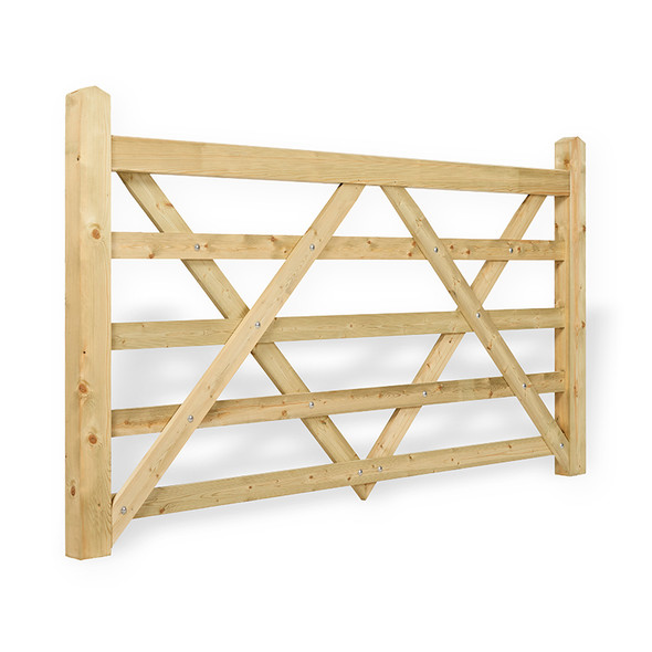 6' - 5 bar Field Gate Universal Hang - Side Shot