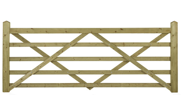 8' - 5 bar Field Gate Universal Hang