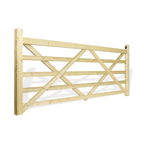 11' - 5 bar Field Gate Universal Hang - Side Shot