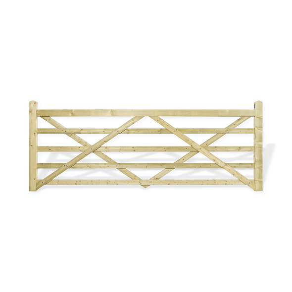 11' - 5 bar Field Gate Universal Hang - Front Shot