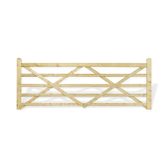 12' - 5 bar Field Gate Universal Hang - Front Shot
