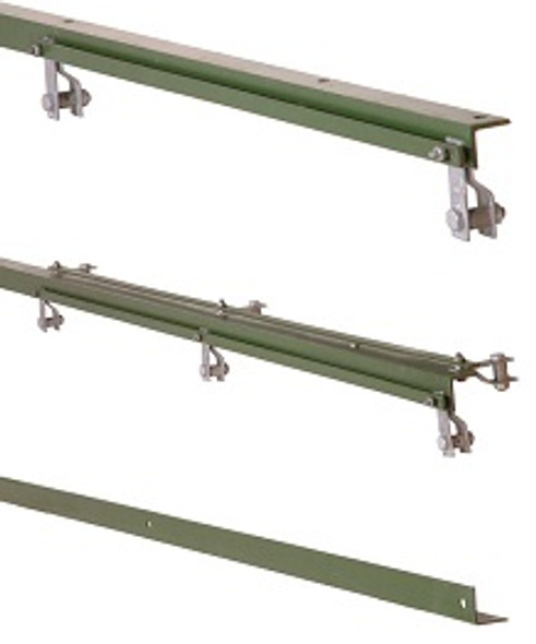 2.5m Green 50 X 50 X 6mm Angle Iron Gate End Slamming Post For Left Hand Gate
