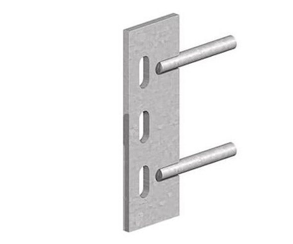 Galvanised Steel Push-In Cleat (150mm) - Two Pins