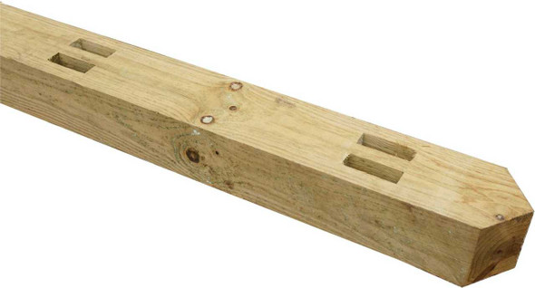 Fence Post (2100mm) - Morticed for 2 Rails