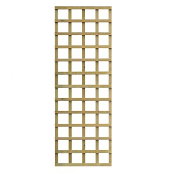 Traditional Square Trellis Panel (1830 x 610mm) - Pressure Treated Green Timber