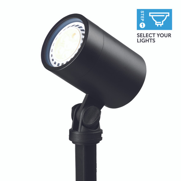Ellumière Large Black Spotlight (160mm) - 3w LED Bulb