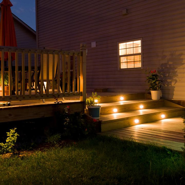 Ellumière Decking Light Starter Kit - Includes 4 x 1W LED Deck Lights