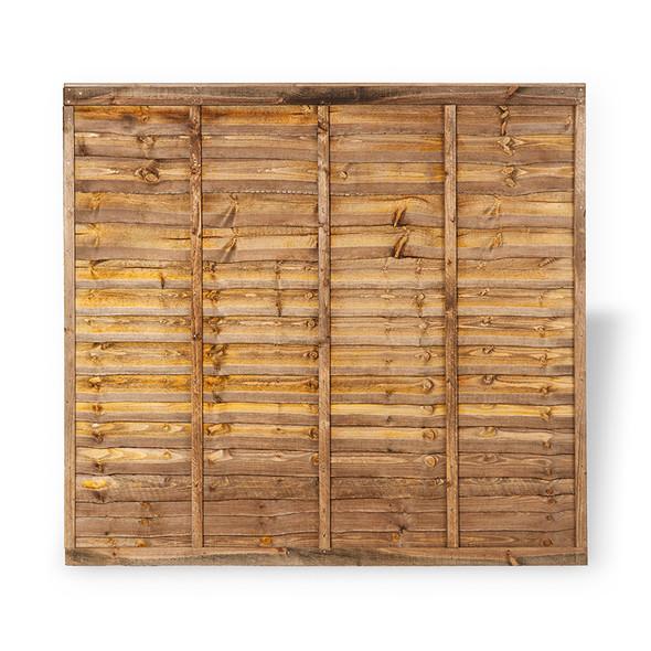 Lap Fence Panel Brown Colour Front View