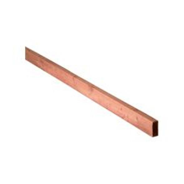 47 x 100 x 1800mm Sawn Treated Brown Timber Rail (Wall Plate)