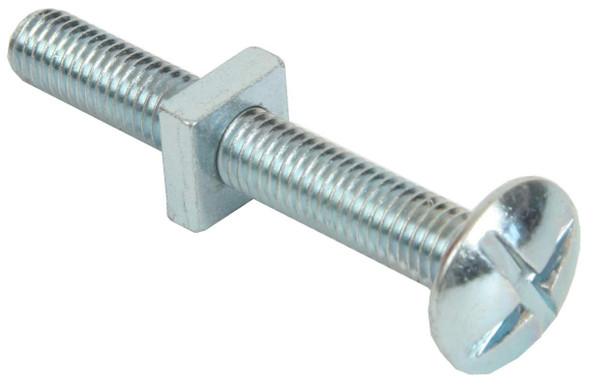 M10 X 80mm BZP Roofing Bolts & Hex Nuts