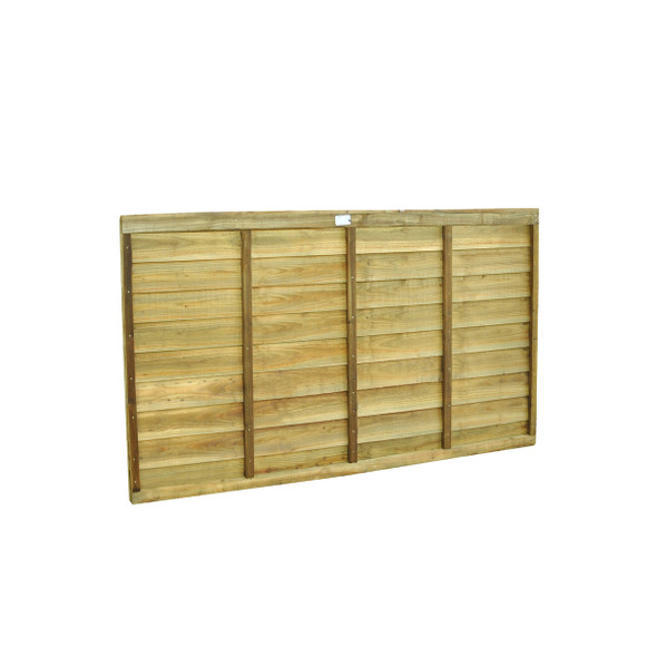 6ft Traditional Lap Fence Panel (1830 x 900mm) - Pressure Treated Green Timber