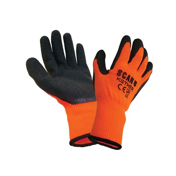 Thermal Gloves Orange/Black (Large)