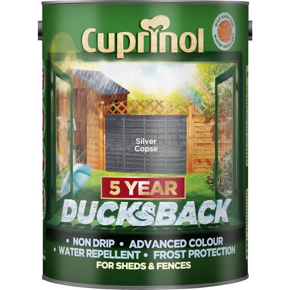Cuprinol Ducksback 5 Ltr Silver Copse