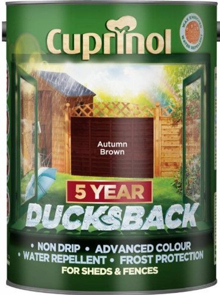 Cuprinol Ducksback 5 Ltr Autumn Brown
