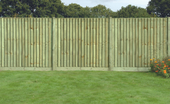 6ft Closeboard Fence Panel (1830 x 1650mm) - Pressure Treated Green Timber