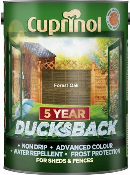 Cuprinol Ducksback 5 Ltr Forest Oak