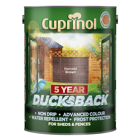 Cuprinol Ducksback 5 Ltr Harvest Brown