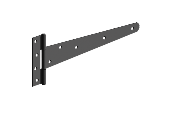 "Pair of 12"" Black Light 'T' Hinges (Pre-Packed With Screws)"