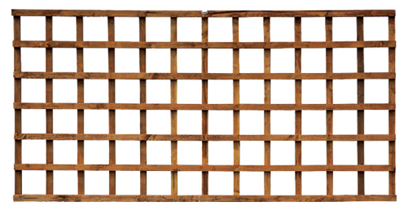 Square Heavy Duty Trellis Panel (3000 x 600mm) - Pressure Treated Green Timber