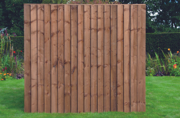 6ft Closeboard Fence Panel (1830 x 1650mm) - Dip Treated Brown Timber