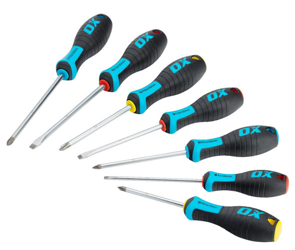 OX Tools - Pro 7 Piece Screwdriver Set