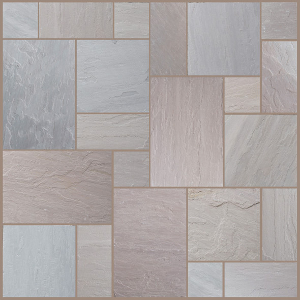 Pine Blend Sandstone Patio Paving Slabs Project Pack (20.78sqm) - Dry