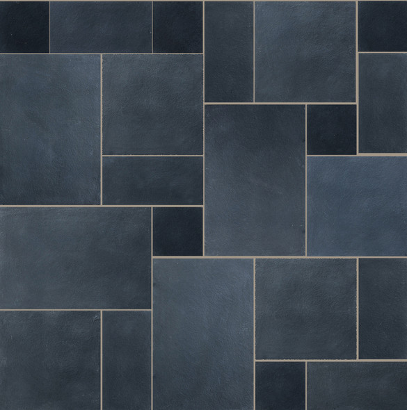 Charred Oak Limestone Patio Paving Slabs Project Pack  - Wet