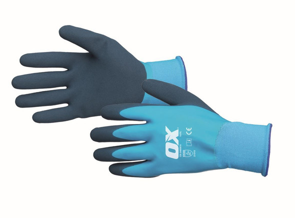 OX Tools - Waterproof Foam Latex Gloves