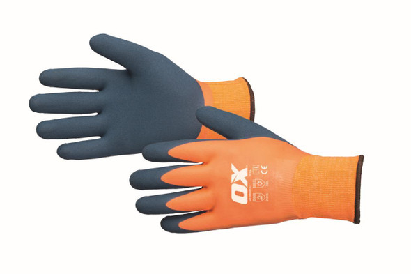 OX Tools - Waterproof Foam Latex Thermal Gloves