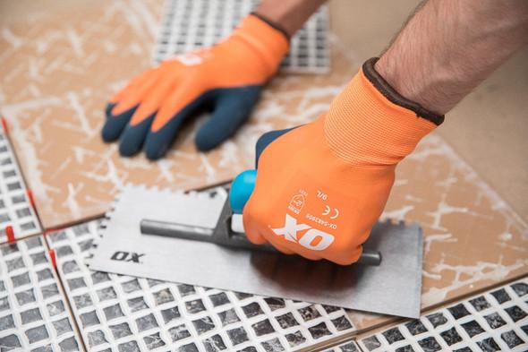 OX Tools - Waterproof Foam Latex Thermal Gloves