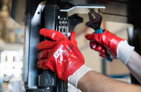 OX Tools - PVC Knit Wrist Gloves (Size 10 - XL)