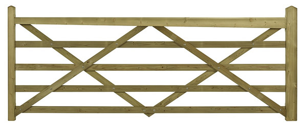 Somerset 5 Bar Entrance Gate - 10ft - RH