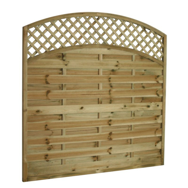 Arched Lattice Top Fence Panel (1800 x 1800mm) - Pressure Treated Green Timber