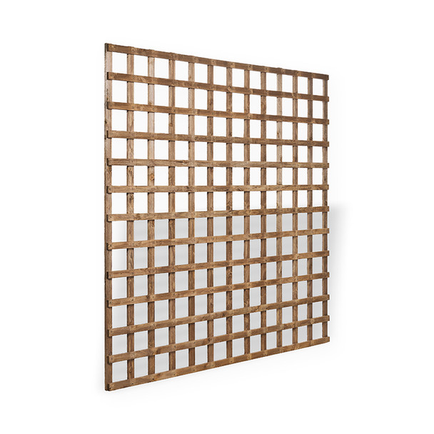 Traditional Square Trellis Panel (1830 x 1830mm) - Dip Treated Brown Timber
