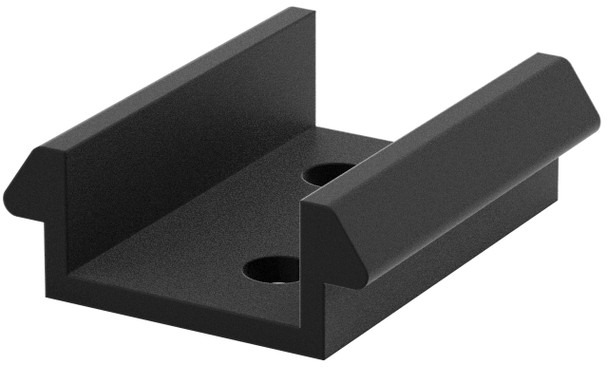 DuraPost Capping Rail Clip Black (20mm) - Bag of 10
