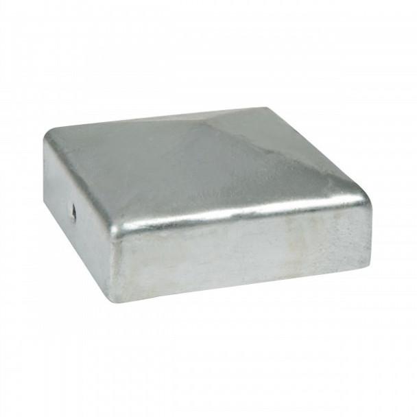 DuraPost Post Cap and Bracket (75 x 75mm) - Plain Steel Finish