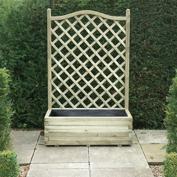 Planter & Trellis - Pressure Treated Green Timber