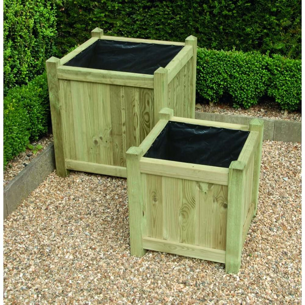 Square Planters (set of 2) - Pressure Treated Green Timber