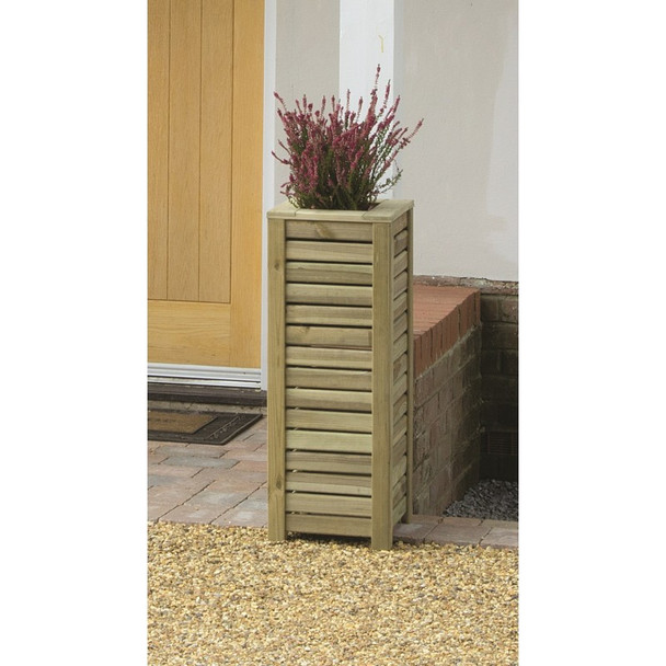 Slatted Square Planter - Pressure Treated Green Timber