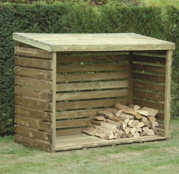 Log Store - Pressure Treated Green Timber