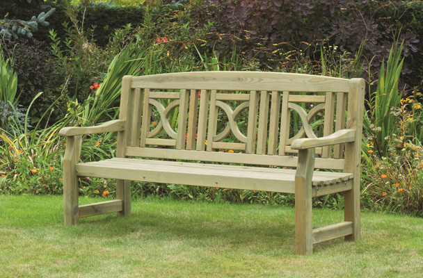 Tudor Bench (1800mm) - Pressure Treated Green Timber