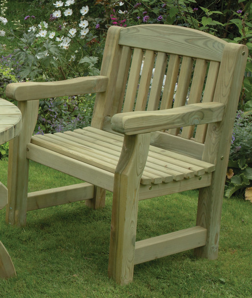 Carver Chair (700mm) - Pressure Treated Green Timber