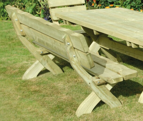 Country Style Bench (1700mm) - Pressure Treated Green Timber
