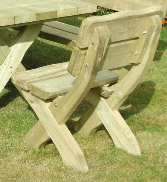 Country Style Chair (500mm) - Pressure Treated Green Timber