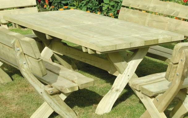 Country Style Table (900mm) - Pressure Treated Green Timber