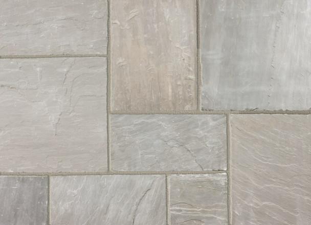 Marshalls Indian Sandstone Calibrated Paving Slab - Grey Multi