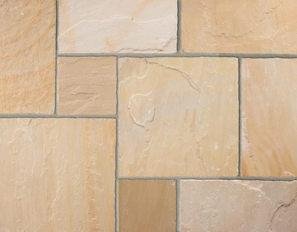 Marshalls Indian Sandstone Calibrated Paving Slab - Buff Multi