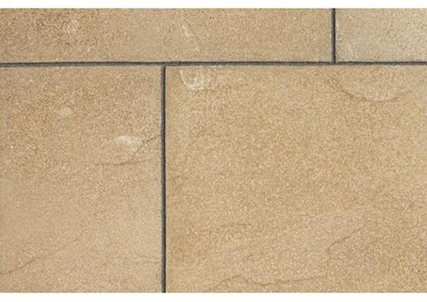 Marshalls Regent Textured Riven Paving Slab (600 x 600 x 38mm) - Buff